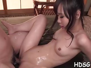 Asian student is getting her daily portion of penetrate, from a fellow she is in enjoy with