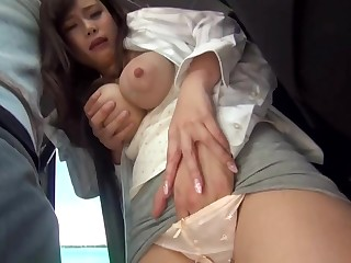 Big-Chested, Japanese black-haired is procurement sexually ill-treated in a throw up buss, but she enjoys it a pile