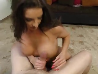 Silvia Saige got down on her knees and gave a bj hither her fresh paramour