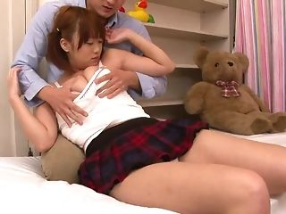 Attractive chinese teenage takes a rock-hard finger plumb and bagatelle jeering conquer porn