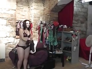 Amateur Hot Teen Dances In Backstage