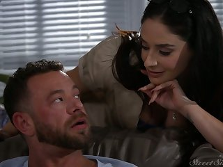 Bodacious paramour Sheena Ryder goes wild on hard penis and gets doggy fucked
