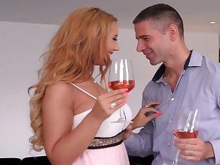 Alluring Blonde Kyra Hot Memorable Romantic Sex