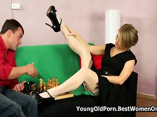 Russian Perfect Cougar Fucks Young Lover