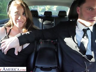 Whore wife Bianca Burke is cheating on her husband with his driver