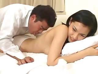 An Asian beauty moans as she's pounded by a micropenis