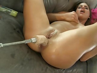 Cathy Heaven - She Means Business Huge Anal Dildo Machine