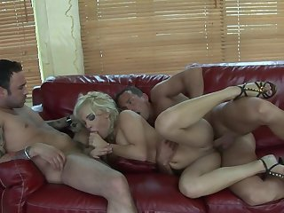 Husband and his best friend bang his slutty blonde wife Britney