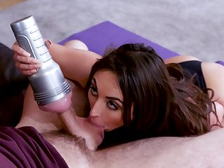 Great porn special with my step sis and her fleshlight