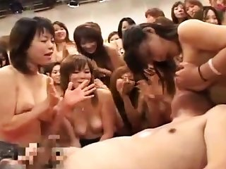 Hardcore group sex party with a nasty asian escort