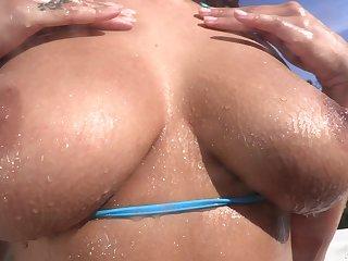 Emotional big breasted bikini slut Sofi Ryan wanna brutal doggy fuck