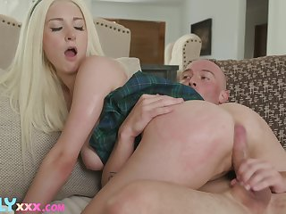 Adorable blonde chick Dylann Vox moans with pleasure of nice sex