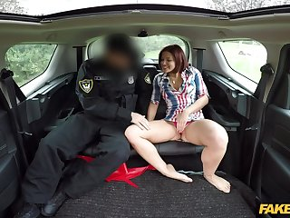 Cop suits woman with hard inches after she strips on the back seat