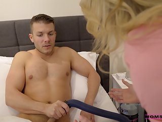 Quickie with a vacuum cleaner leads to some steamy threesome fuck