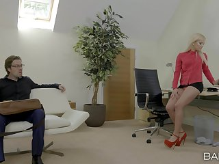 Gentle pussy fucking in the office with secretary Candy Licious