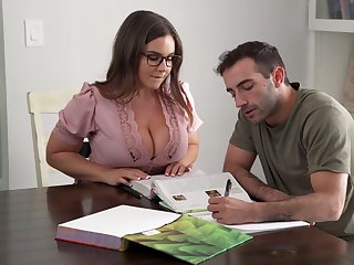 Its Hard To Stay Focus When You Got A Busty Teacher - Natasha Nice