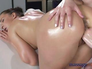 Oily girly-girl act with 2 wondrous euro honies pornvideo