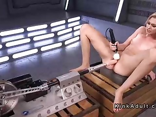 Lean light-haired was toying with big fuck sticks and porking machines, in play the part be expeditious for the camera