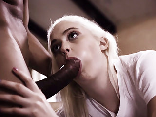 Dirty BIG BLACK PENIS gardener lured into hump a petite blind 18yo girl