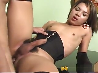 asian Ladytwink receives banged Hard.