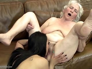Grandmas display what a real girl/girl fuckfest should glance like free sex