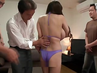 Very big japanese tits loves orgy