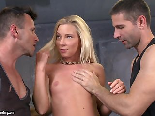 Angie Koks Is Double Penetrated By Handsome Big Dicked Lads