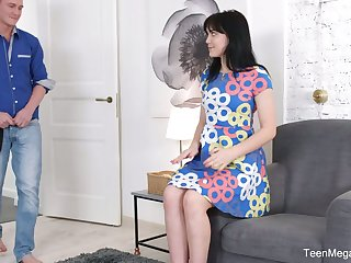 Sweet looking Russian GF Tetti Dew Korti is fucke din her anal hole for the first time