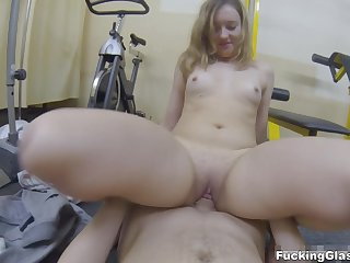 Pounding Glasses - Teresa - Having Sex practice in a gym