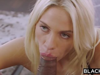 BLACKED Blond Hair Lady College Girl PUNSIHED By BIG BLACK COCK - Xozilla Porn
